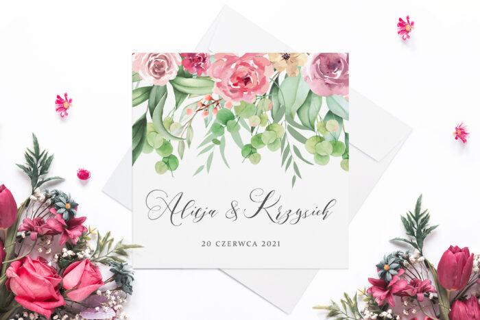 eleganckie-zaproszenie-slubne-rozowy-motyw-eustomy-papier-matowy-koperta-bez-koperty