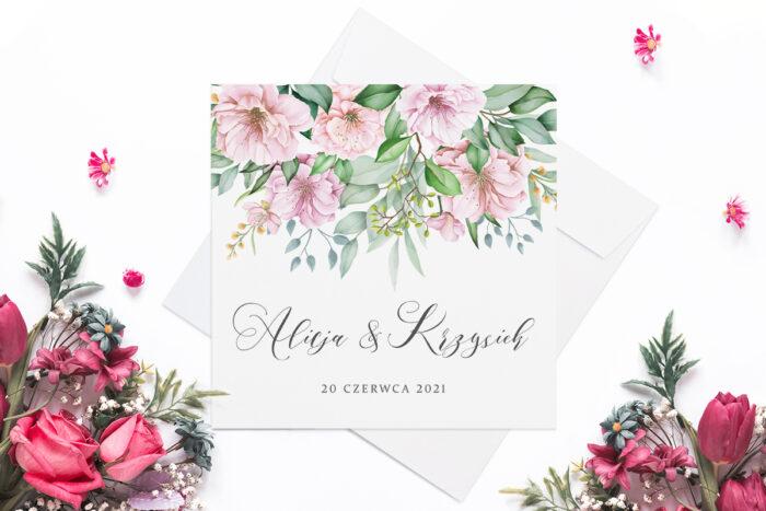 eleganckie-zaproszenie-slubne-rozowy-motyw-kwiat-wisni-papier-matowy-koperta-bez-koperty