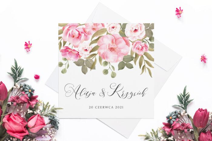 eleganckie-zaproszenie-slubne-rozowy-motyw-ogrodowe-roze-papier-matowy-koperta-bez-koperty