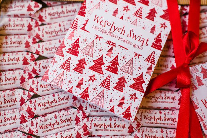 świąteczne krówki i kartka świąteczna