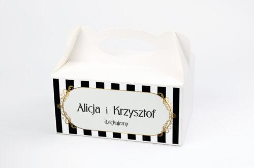 Ozdobne pudełko na ciasto - Z nawami- Alicja w Krainie Czarów