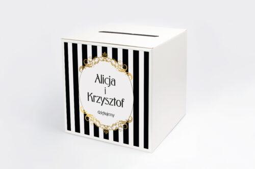 Personalizowane pudełko na koperty - Z nawami- Alicja w Krainie Czarów