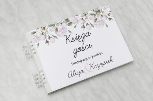 Księga gości ślubnych - Kwiaty Vintage – Białe Róże