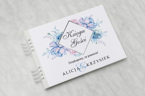 Księga gości ślubnych - Z nawami- Geometryczne Kwiaty - wzór 3