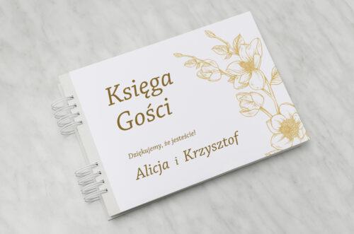 Księga gości - Rysunkowe kwiaty - Hibiskus