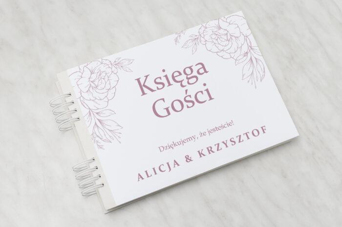 ksiega-gosci-rysunkowe-kwiaty-dl-konturowe-roze-papier-matowy-dodatki-ksiega-gosci