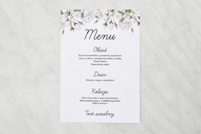menu-weselne-kwiaty-vintage-biale-roze-papier-satynowany