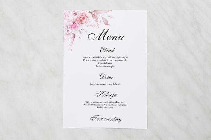 menu-weselne-akwarelowe-bukiety-roze-na-jasnym-tle-papier-satynowany