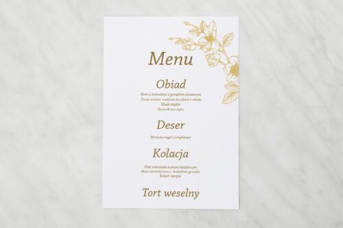 Menu weselne - Rysunkowe kwiaty - Hibiskus