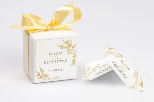 Ozdobne pudełeczko z personalizacją - Rysunkowe kwiaty - Hibiskus