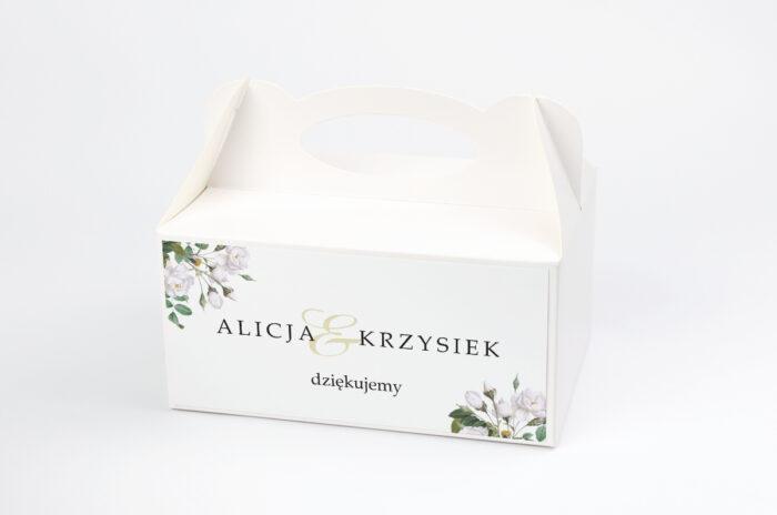 ozdobne-pudelko-na-ciasto-geometryczne-kwiaty-biale-roze-papier-satynowany-pudelko-
