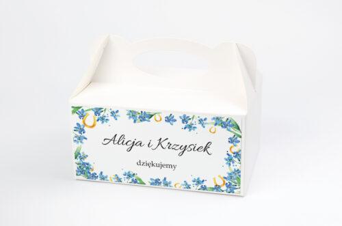 Ozdobne pudełko na ciasto - Niezapominajka