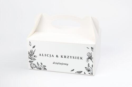 Ozdobne pudełko na ciasto - Rysunkowe kwiaty DL - Róże