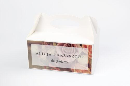 Ozdobne pudełko na ciasto - Fotograficzne Kwiaty - Herbaciane Róże