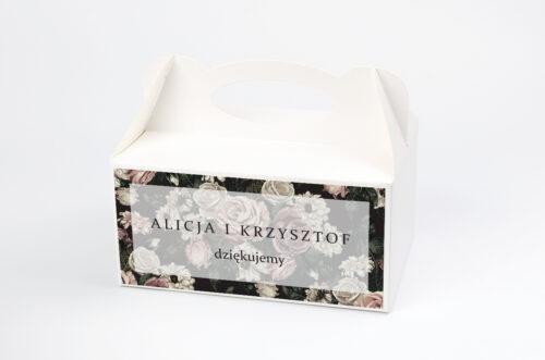 Ozdobne pudełko na ciasto - Fotograficzne Kwiaty - Rysunkowe Kwiaty