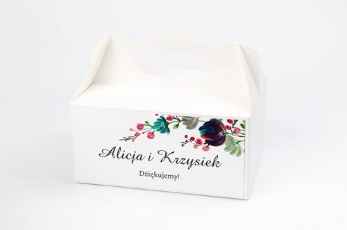 Ozdobne pudełko na ciasto - Kwiaty z Nawami - Kolory Jesieni