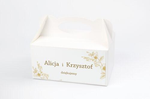 Ozdobne pudełko na ciasto - Rysunkowe kwiaty - Hibiskus