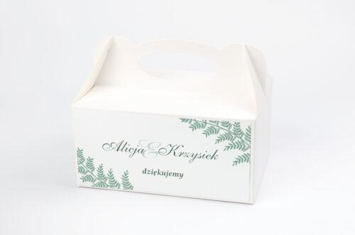 Ozdobne pudełko na ciasto - Rysunkowe kwiaty DL - Paprotki