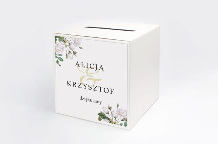 personalizowane-pudelko-na-koperty-geometryczne-kwiaty-biale-roze-papier-satynowany-pudelko-