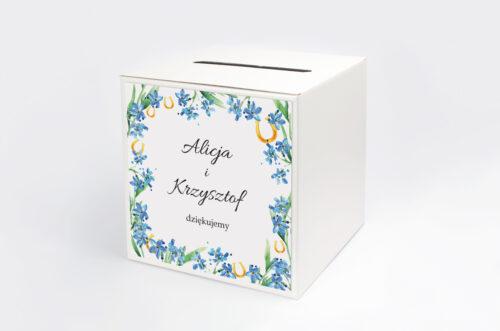 Personalizowane pudełko na koperty - Niezapominajka