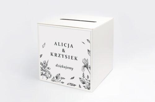 Personalizowane pudełko na koperty - Rysunkowe kwiaty DL - Róże