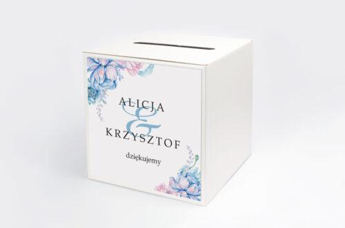 Personalizowane pudełko na koperty - Geometryczne Kwiaty - wzór 3