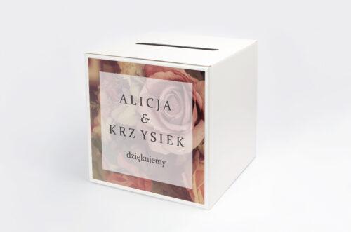 Pudełko na koperty do zaproszenia Fotograficzne Kwiaty - Herbaciane Róże