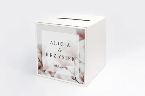 Pudełko na koperty do zaproszenia Fotograficzne Kwiaty - Subtelna Magnolia