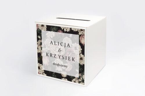 Pudełko na koperty do zaproszenia Fotograficzne Kwiaty - Rysunkowe Kwiaty