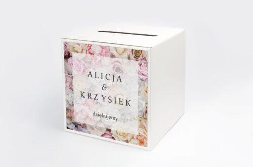 Pudełko na koperty do zaproszenia Fotograficzne Kwiaty - Pudrowe Róże