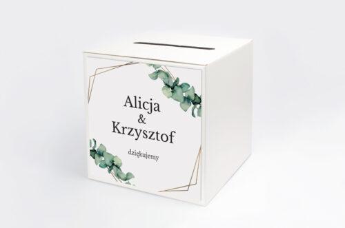 Personalizowane pudełko na koperty - jednokartkowe - Eukaliptus