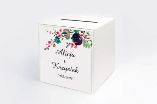 Pudełko na koperty do zaproszenia Kwiaty z Nawami - Kolory Jesieni