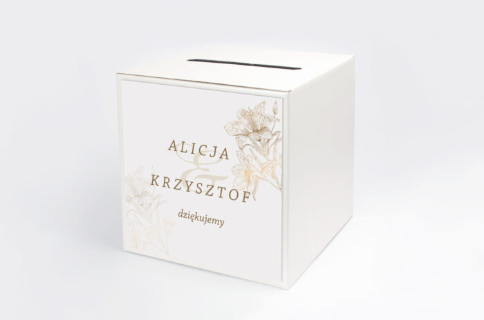 personalizowane-pudelko-na-koperty-rysunkowe-kwiaty-lilie-papier-satynowany-pudelko-