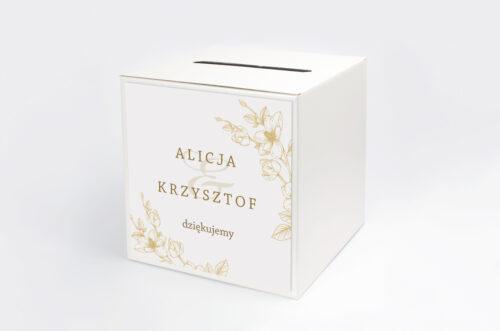 Personalizowane pudełko na koperty - Rysunkowe kwiaty - Hibiskus