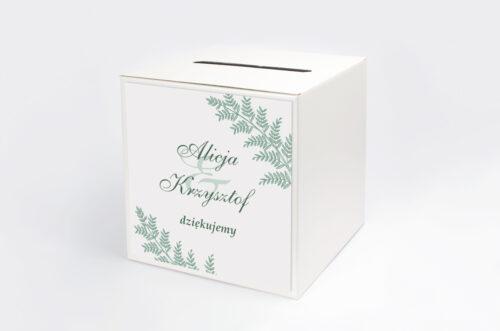 Personalizowane pudełko na koperty - Rysunkowe kwiaty DL - Paprotki