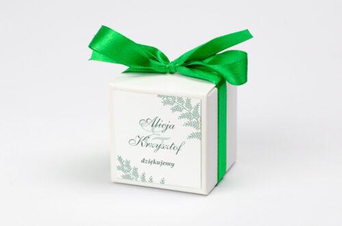 Ozdobne pudełeczko z personalizacją - Rysunkowe kwiaty DL - Paprotki