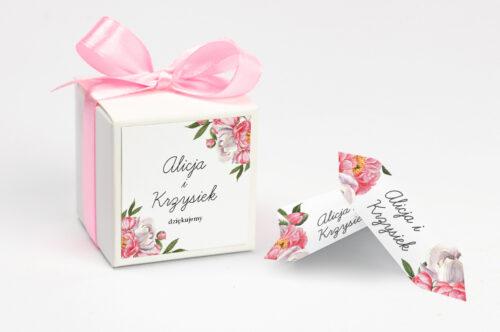 Ozdobne pudełeczko z personalizacją - Kwiatowe Tła - Koralowe Kwiaty