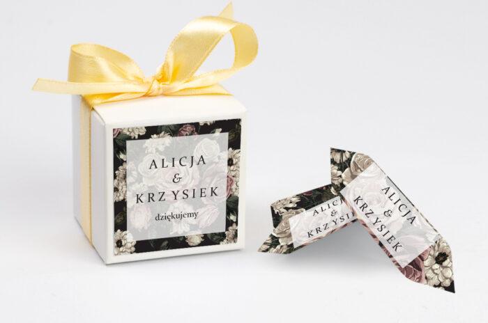 Ozdobne pudełeczko z personalizacją - Fotograficzne Kwiaty - Rysunkowe Kwiaty
