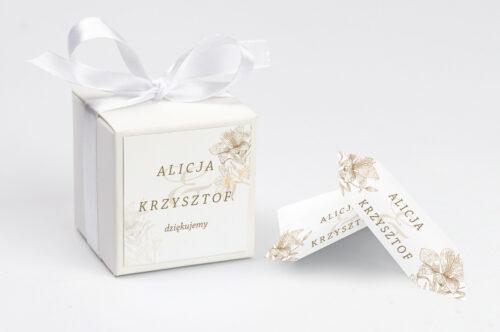 Ozdobne pudełeczko z personalizacją - Rysunkowe kwiaty - Lilie