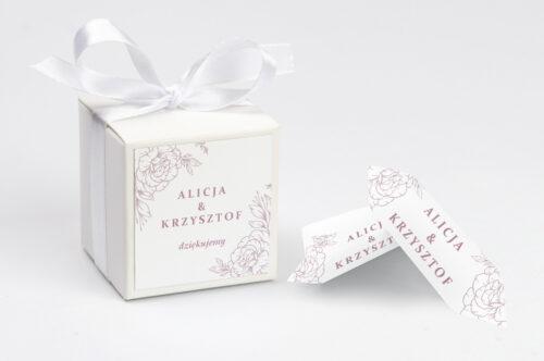 Pudełeczko z personalizacją - Rysunkowe kwiaty DL - Konturowe Róże