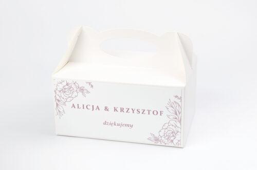 Ozdobne pudełko na ciasto - Rysunkowe kwiaty DL - Konturowe Róże