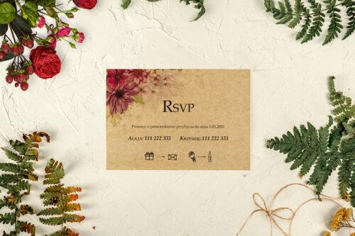 rsvp do zaproszeń jesiennych cynie
