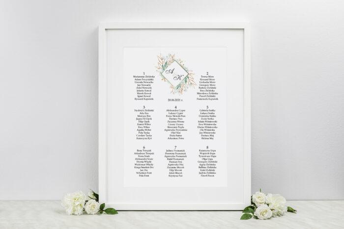 plan-stolow-weselnych-do-zaproszen-geometryczne-kwiaty-galazki-ze-zlotem-dodatki-ramka-papier-satynowany