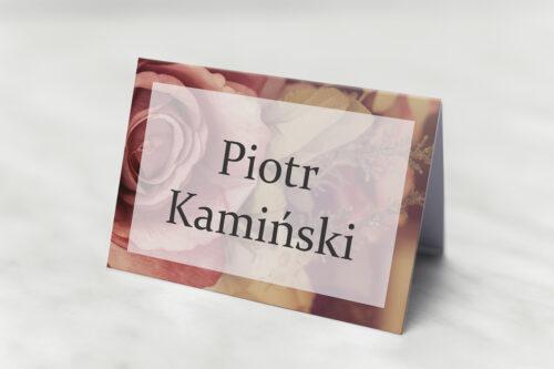 Winietka ślubna pasująca do zaproszeń Fotograficzne Kwiaty - Herbaciane Róże