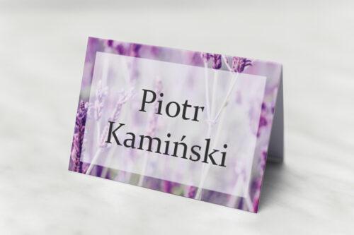 Winietka ślubna pasująca do zaproszeń Fotograficzne Kwiaty - Pole Lawendowe