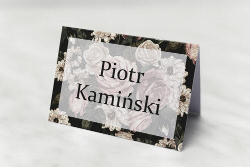 Winietka ślubna pasująca do zaproszeń Fotograficzne Kwiaty - Rysunkowe Kwiaty