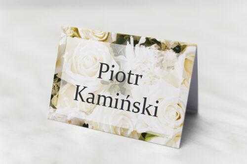 Winietka ślubna pasująca do zaproszeń Fotograficzne Kwiaty - Białe Róże