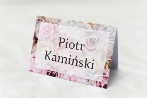 Winietka ślubna pasująca do zaproszeń Fotograficzne Kwiaty - Pudrowe Róże