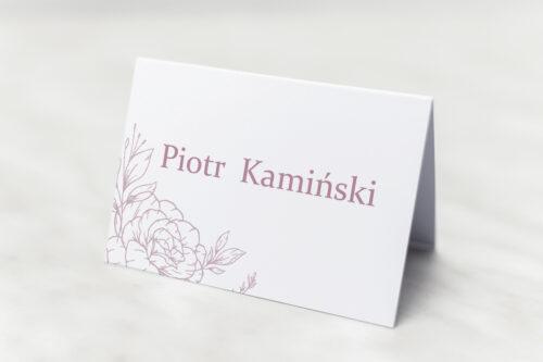 Winietka ślubna - Rysunkowe kwiaty DL - Konturowe Róże