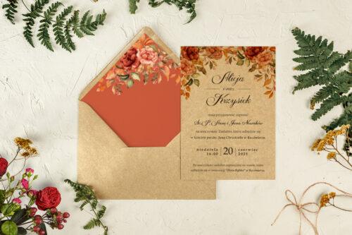 zaproszenie na ślub herbaciane róże